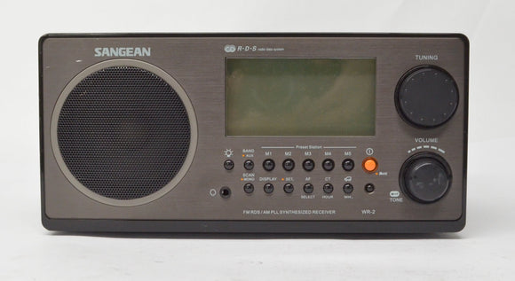 Sangean WR-2  FM-RBDS / AM Wooden Cabinet Digital Tuning Receiver