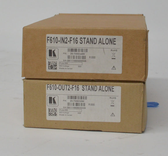 Kramer F610-IN2-F16 AND F610-OUT2-F16 Module for Kramer VS-1616D NEW IN BOX