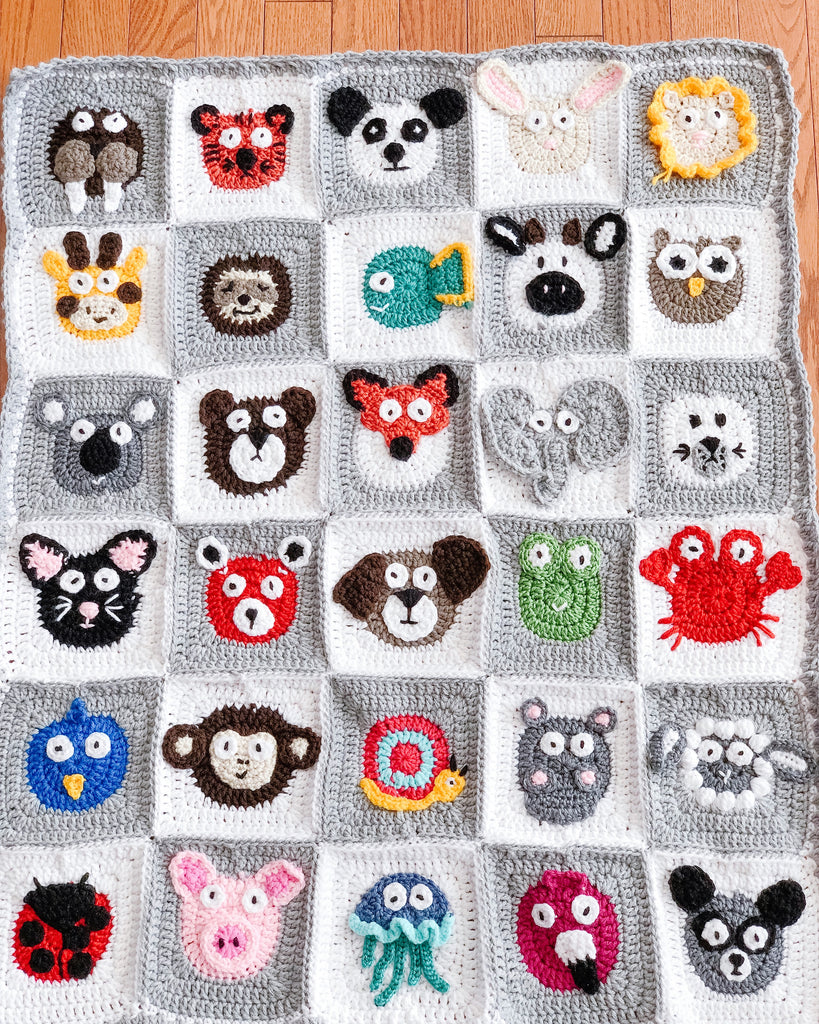 Animals of the World baby blanket