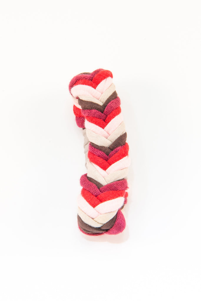 Colorful textile bracelet (red &white)