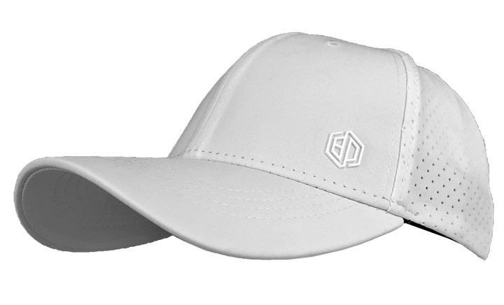 WHITE LASER MESH PERFORMANCE HAT