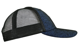 BLUE HEATHER TRUCKER MESH PERFORMANCE HAT
