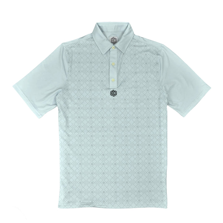 Studded Stretch Polo: Cool Blue