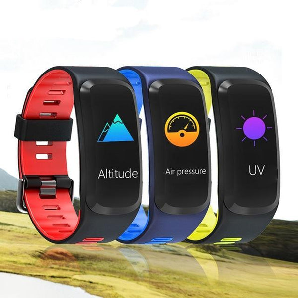 Color Clock Blood Pressure Heart Rate Multi-Sport Smart Watch