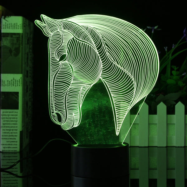 Horse Head 7 Color Changing Bulding LED Night Lamp