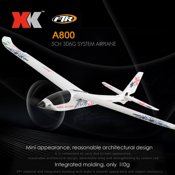 XK A800 RTF (Ready-To-Fly) Plane (No Assembly Required).