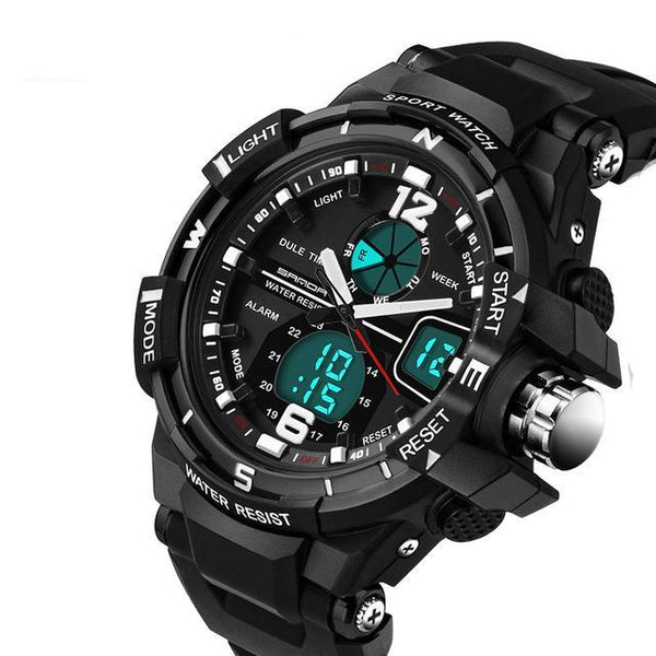 SANDA Waterproof Sport LED Digital Watch