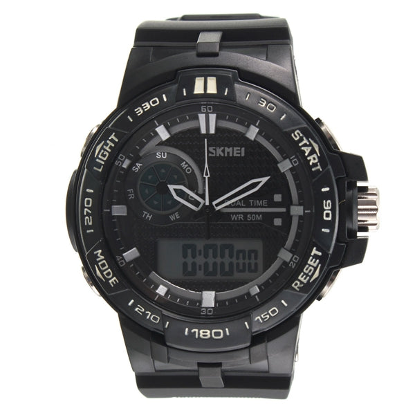 Men's Rubber Band LED Digital Sports Waterproof Wrist Watch