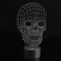 3D Skull Illusion LED Table Desk Light