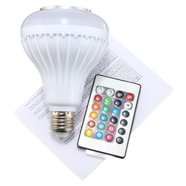 RGB Wireless Bluetooth Speaker Bulb