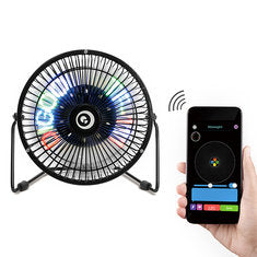Clock Fan Colorful Display Bluetooth Connect with APP Control