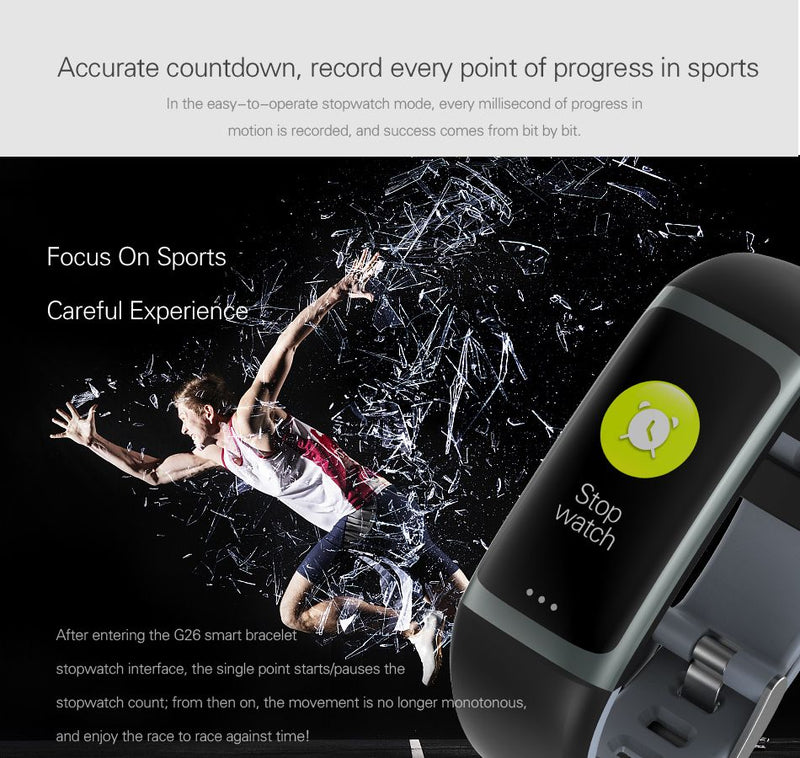 Color Display Blood Oxygen Pressure Heart Rate Sleep Reminder Fitness Smart Watch
