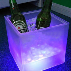 LED Ice Bucket Double RGB Color Layer Square Bar