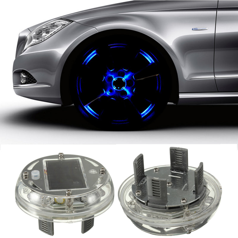 Car Wheel Tire Rim Solar Energy LED Flash Light