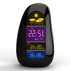 Wireless Weather Station Clock LED Alarm Clock Wireless Weather Report