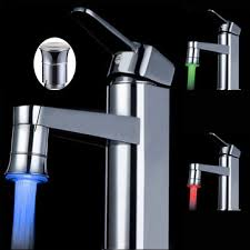 LED Temperature Control Spontaneous Light Faucet Tap
