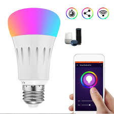 E27 7W RGBW 600LM WIFI LED Smart Light Bulb