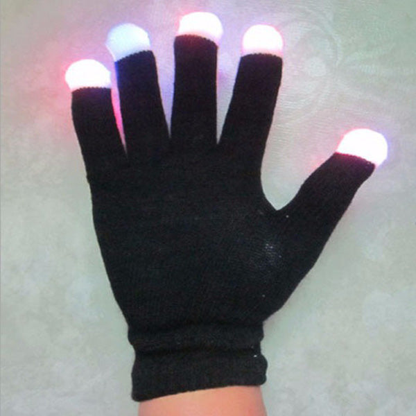 LED Colorful Flashing Glowing Gloves Finger Light