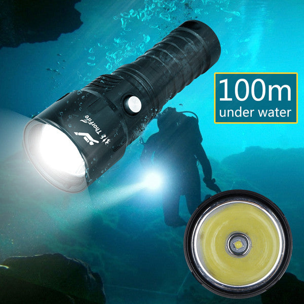 1000LM Diving Under Water LED Flashlight