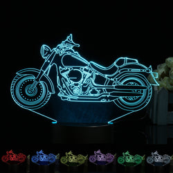3D Illusion Motorcycle LED Desk Lamp