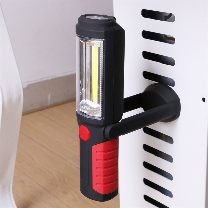 COB LED Flashlight Magnetic Rechargeable Work Light 360 Degree Stand Lamp