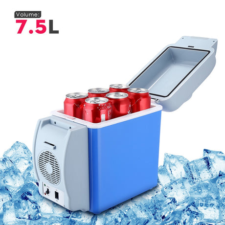 7.5L Mini Car Refrigerator Dual-Use Box Cooler