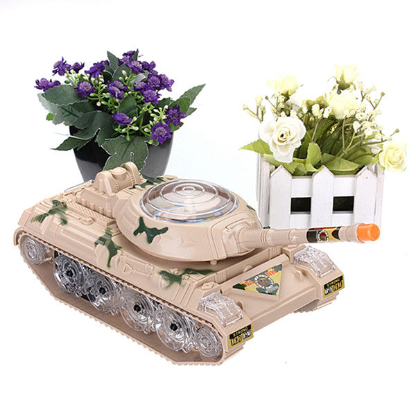 Army Tank Moving Sounding Flashing Wheel LED Lights
