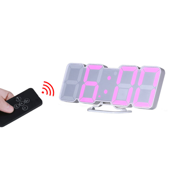 3D Digit LED Remote Control Sound Control Thermometer Alarm