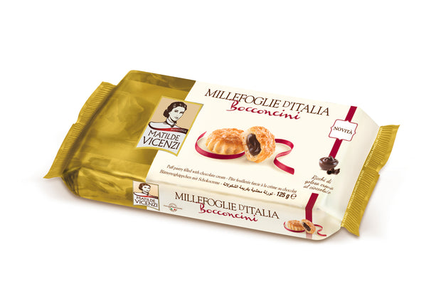 Puff Pastry with Chocolate Cream 125g Matilde Vicenzi Millefoglie d'Italia