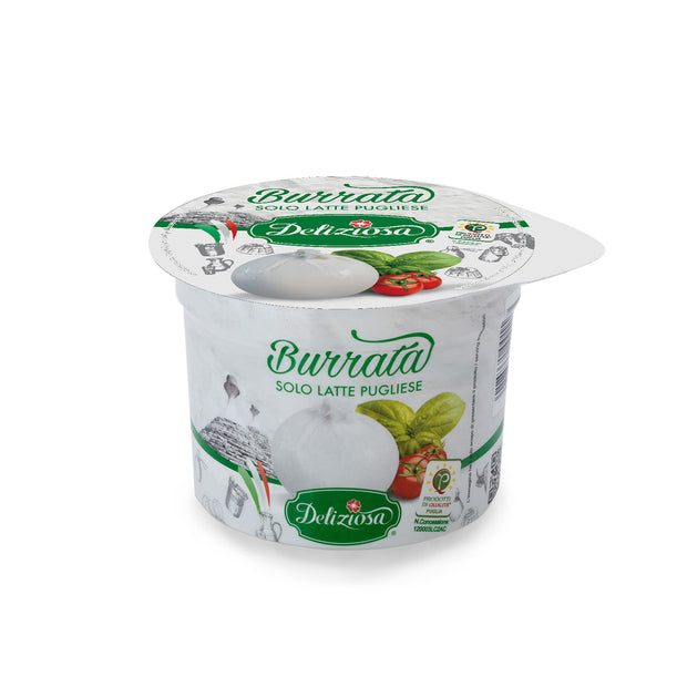 BURRATA SINGLE PORTION La Deliziosa - 100g - MERCATO GOURMET