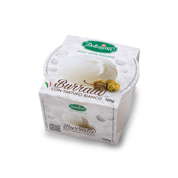 Truffle Burrata Single Portion in Glass La Deliziosa - 125g - MERCATO GOURMET
