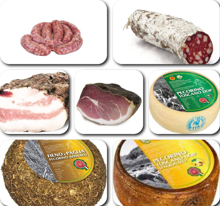 ASSORTMENT OF CURED MEATS AND ARTISANAL TUSCAN CHEESES, 4.5 kg