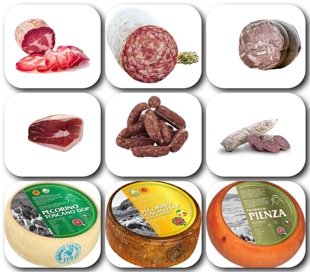 Gift basket Gran Selezione Salami and Cheese 4.55KG