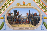 The Golden Spike - Detail from a mural in the US Capitol (401 Piece Wooden Jigsaw Puzzle)