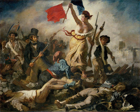 Liberty Leading The People (466 Pieces) by Eugene Delacroix, Wooden Jigsaw Puzzle