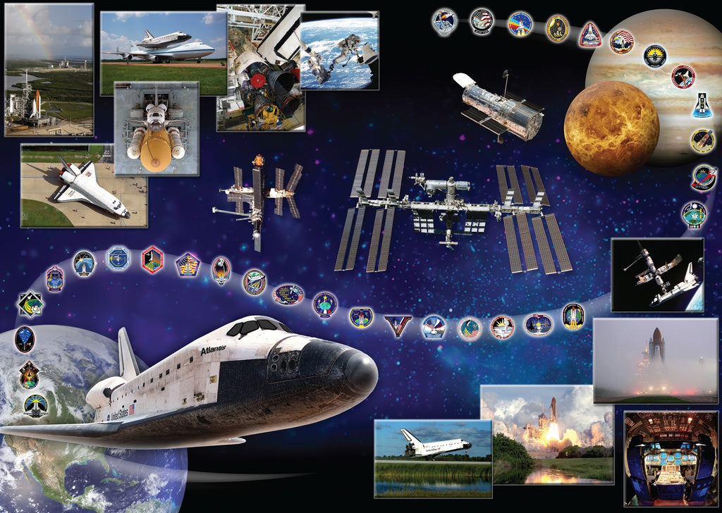 The Shuttle Atlantis by NASA (522 Piece Wooden Jigsaw Puzzle)