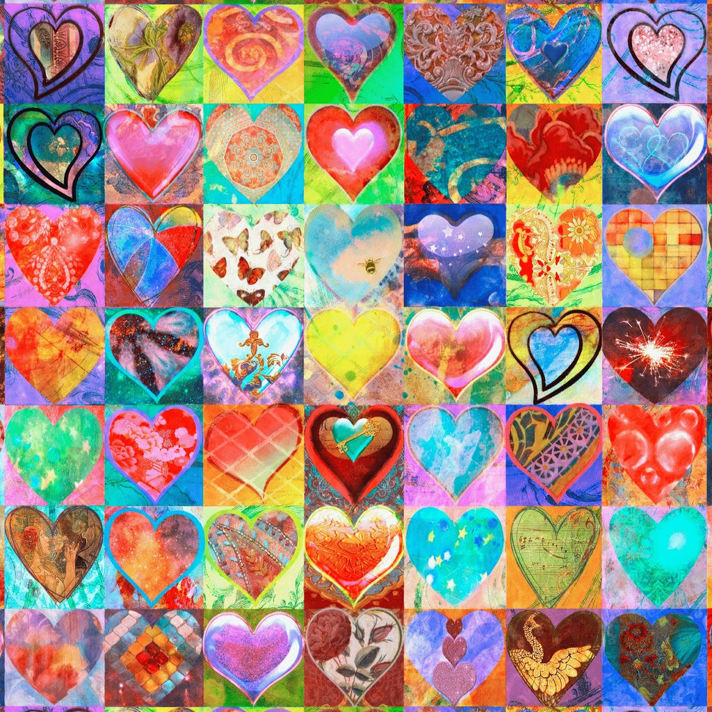 49 Hearts (243 Piece Wooden Jigsaw Puzzle)