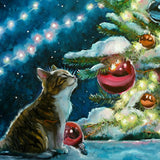 A Purr-fect Christmas - 261 Piece Wooden Jigsaw Puzzle