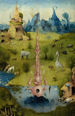 Beasts in the Garden of Earthly Delights by Hieronymus Bosch (400 Piece Wooden Jigsaw Puzzle)
