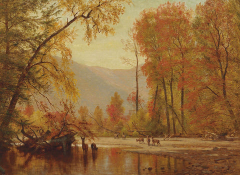 Autumn on the Delaware (385 Piece Wooden Jigsaw Puzzle)