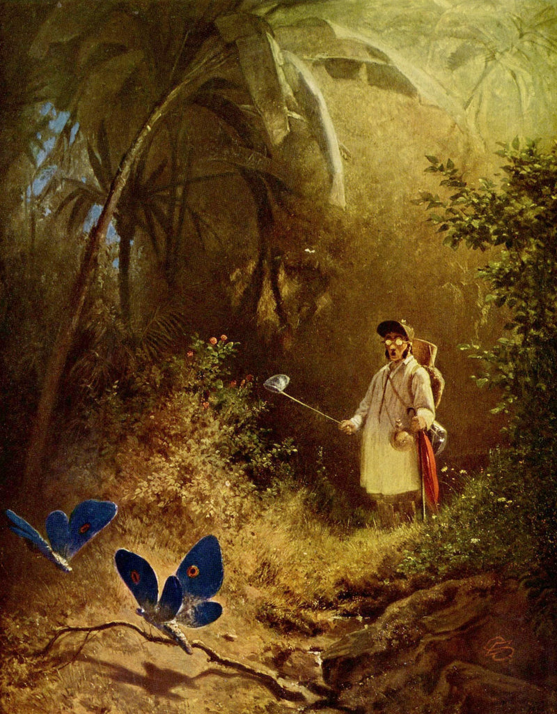 The Butterfly Hunter by Carl Spitzweg -268 Piece Wooden Jigsaw Puzzle