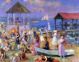 Beach Scene, New London by William Glackens (352 Piece Wooden Jigsaw Puzzle)