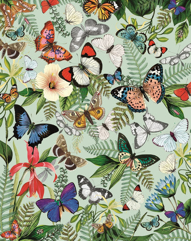 Butterflies and Moths (268 Piece Wooden Jigsaw Puzzle)