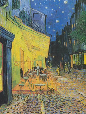 Cafe Terrace at Night by van Gogh (427 Piece Wooden Jigsaw Puzzle)