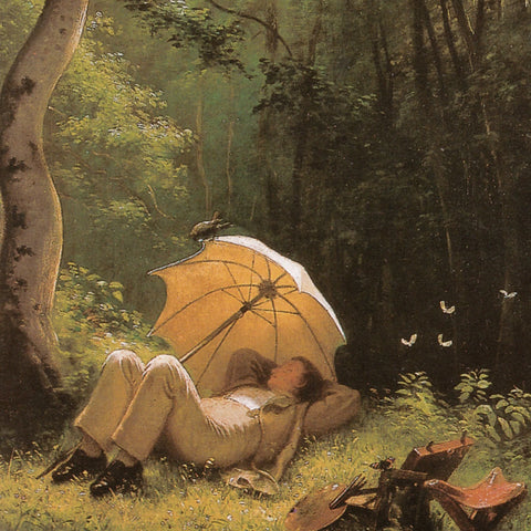 The Painter in a Forest Clearing, Lying under an Umbrella (172 Piece Wooden Jigsaw Puzzle)