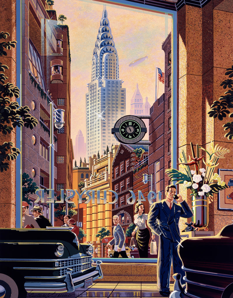 The Chryslers, New York City (334 Piece Wooden Jigsaw Puzzle)