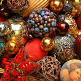 Colorful Christmas Ornaments (248 Piece Wooden Jigsaw Puzzle)