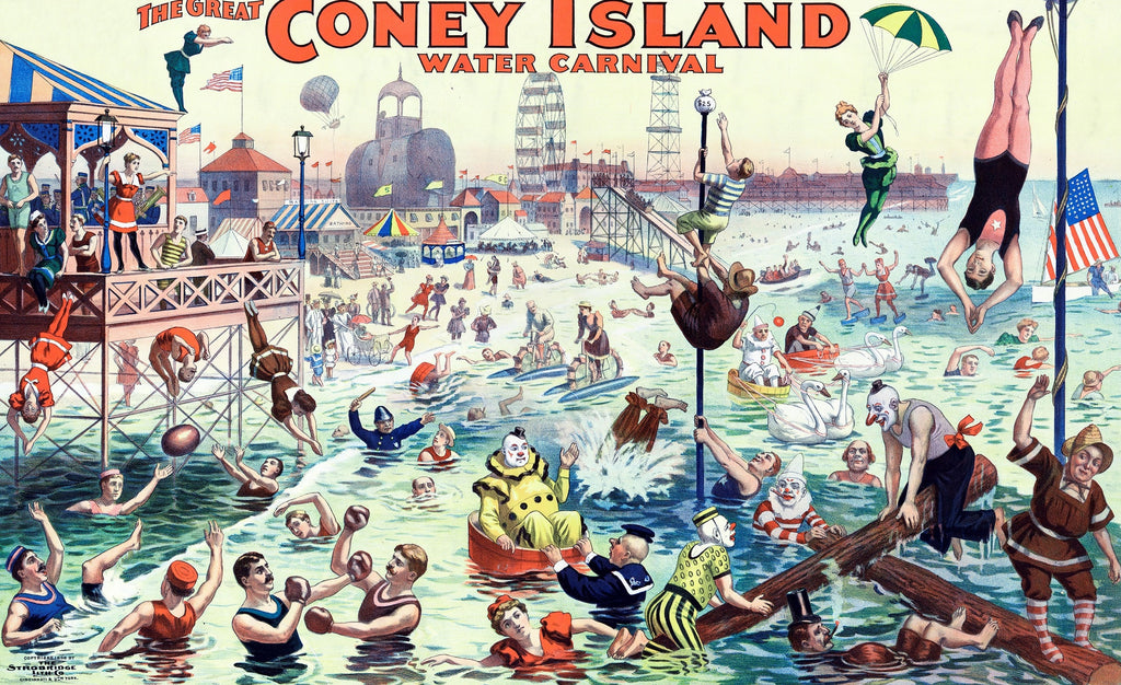 The Great Coney Island Water Carnival - 500 Piece Wooden Jigsaw Puzzle