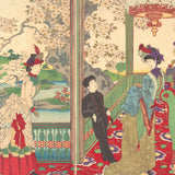A Contest of Elegant Ladies Among the Cherry Blossoms (122 Piece Wooden Jigsaw Puzzle)