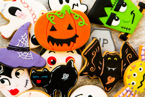 Creepy Cookies (50 Pieces) Mini Halloween Wooden Jigsaw Puzzle